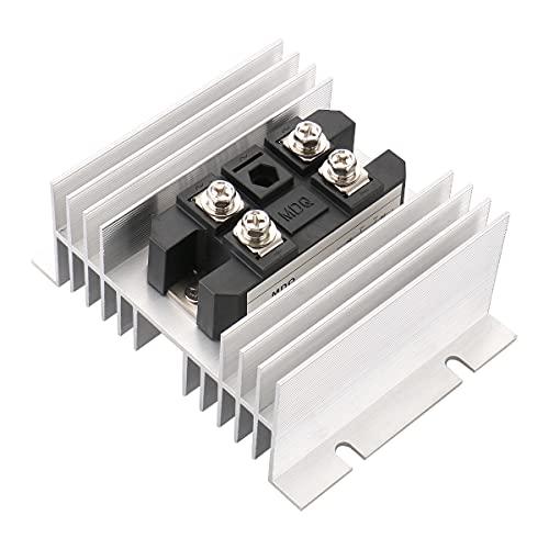 Baomain Bridge Rectifier MDQ-100A 100A 1600V Diode Module with Heat Sinks Aluminum