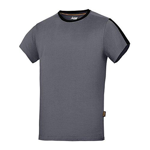 Snickers Herren AllroundWork Kurzarm T-Shirt (L) (Stahlgrau/Schwarz)