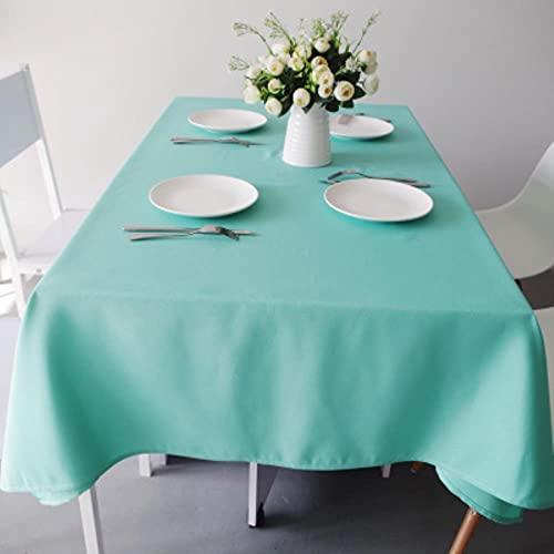 Mantel Blanco Mantel Rectangular Engrosamiento Hotel Restaurante Mesa de Fiesta Mantel de Conferencia Tela Color sólido Tela-Azul Tiffany, 180x300cm