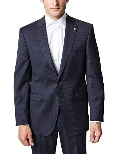 Walbusch Herren Nadelstreifen Anzug Sakko einfarbig Marine 29