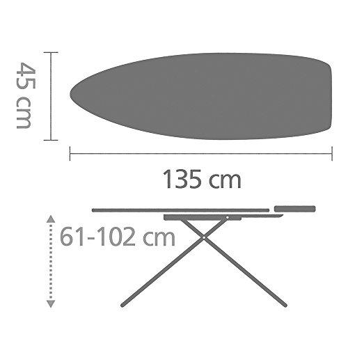 Brabantia 345647 Bügeltisch 135 x 45 cm Integrierte Parkzone,Gestell Mettalic Gray - 2