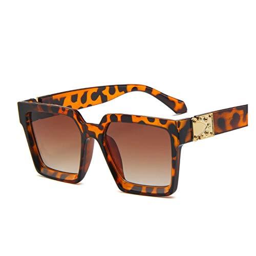 MissLi Gafas De Sol Vintage para Mujer, Diseño De Marca Cuadrada, Gafas De Sol para Mujer, Espejo De Lujo, Retro, Mujer (Color : 4)