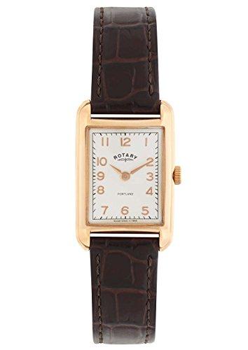 Rotary LS02699/01 - Reloj de Pulsera Mujer, Piel, Color marrón