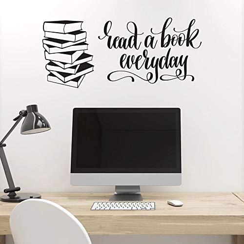 Pegatinas de pared con citas del lector, librería, sala de lectura, esquina, decoración de interiores, vinilo, pegatina para ventana, arte, texto, mural