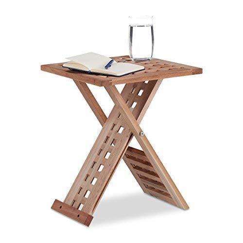 , mesa plegable madera Carrefour, MerkaShop
