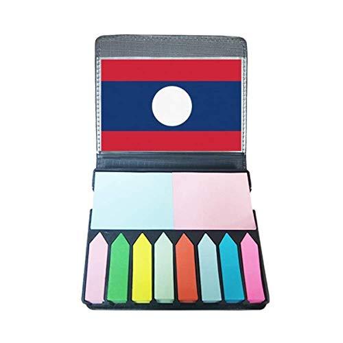 Laos nationale vlag Azië land zelfklevende notitie kleur pagina markeerdoos