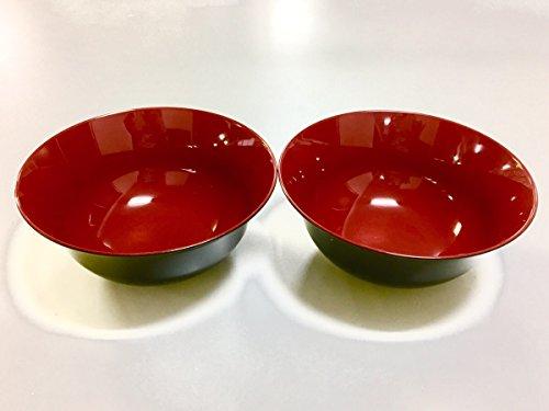 JapanStyle Japanese Ramen Donburi Bowl dia. 183cm 82g [Black x Vermilion ] ×2pcs