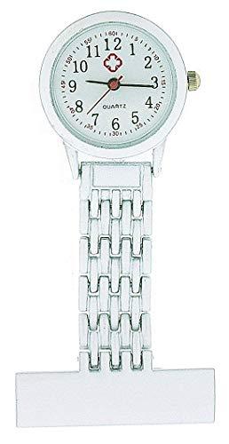 The Olivia Collection nw-009 White – Montre de Poche, Bracelet en métal Blanc