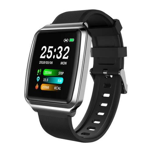 JKC Reloj Inteligente Sport, rastreador de Actividad física para Hombres y Mujeres con medición de presión Arterial, Monitor de frecuencia cardíaca y recordatorio de Llamadas para Android iOS