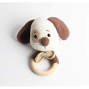 Häkel-Rassel – Taufgeschenk – Baby Rassel – Hund