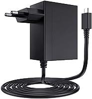 EXTSUD Oplader voor Nintendo Switch 15 V 2,6 A USB-voeding, type C AC-adapter, snel opladen voor Switch Nintendo oplader,...