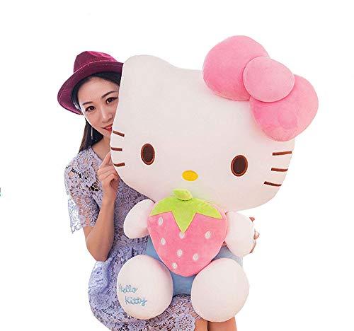 XQYPYL Lindo Hello Kitty Juguete de Peluche Almohada Muñecas Decoración Hogar Niña Niños Juguete Cumpleaños Regalos 30cm-65cm,Pinkstrawberry,30cm