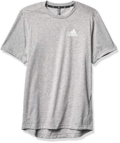 adidas mens FR Tee Medium Grey Heather/White Small
