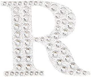 Darice 30053492 Letter R Sticker, Silver