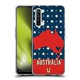 Head Case Designs Australia Mapas del País Impresos Carcasa de Gel de Silicona Compatible con OPPO Find X2 Lite 5G