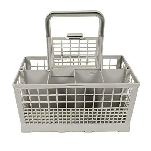 Likai Cesta de cubiertos para lavavajillas universal, cuadrada, portátil, para lavavajillas, gris