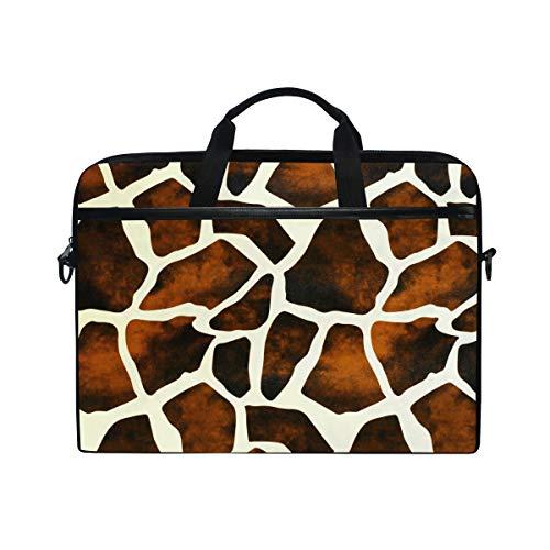 TropicalLife Animal Giraffe Print Laptop Bag Lightweight Briefcase Shoulder Messenger Bag Laptop Case Sleeve for 11.6-15 inch MacBook Pro, MacBook Air Laptop and Tablet