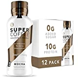 Kitu Super Coffee, Iced Keto Coffee (0g Added Sugar, 10g Protein, 80 Calories) [Mocha] 12 Fl Oz, 12 Pack | Iced Coffee, Protein Coffee, Coffee Drinks - LactoseFree, SoyFree, GlutenFree
