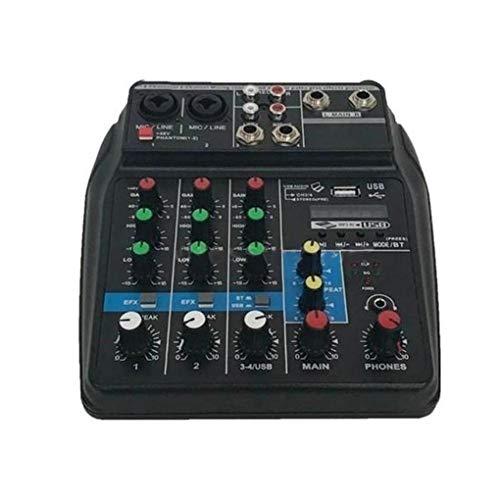F-blue Professione Mixing Console USB Mixer Porta Audio ha Alimentato Il Mini Bluetooth 4 canali Stage Performance Live Action Audio Mixer