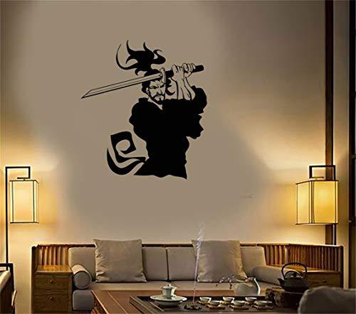 Citar Etiqueta de espejo Cotizaciones Vinilos de pared de vinilo Japón Samurai Warrior Ronin Catana