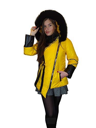 Ronni Nuevo abrigo de cuero de cordero hinchazón de las mujeres