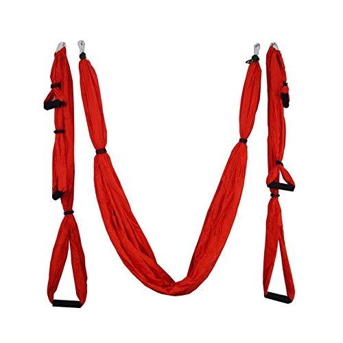 Kenyaw 2.5 * 1.5 M Antena De Yoga Hamaca Inversión Antigravedad Swing Trapeze Yoga Extender Cinturón Bandeja Colgante De Techo para Gimnasio En Casa