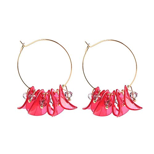 Kosping Quaste Ohrringe Blütenblatt Legierung Hypoallergen Ohrringe Elegante und Einfache Ohrringe für Frau und Freundin