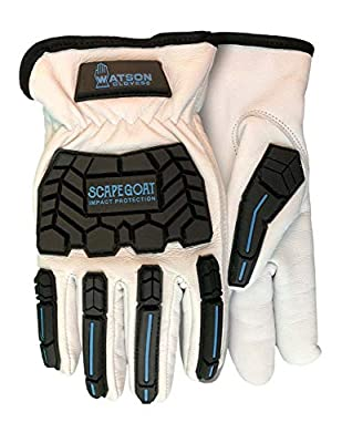 Watson Gloves Scape Goat Winter Lined Work Glove - Goatskin Leather, Impact Protection, Snug-Fitting Elastic Wrist, Slip-On Style Cuff (Extra Large)