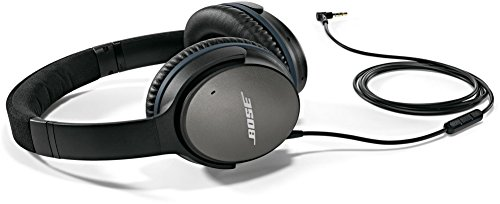 Bose QuietComfort 25 Acoustic Noise Cancelling Headphones for Samsung and Android devices, Black (wired, 3.5mm) (Renewed)