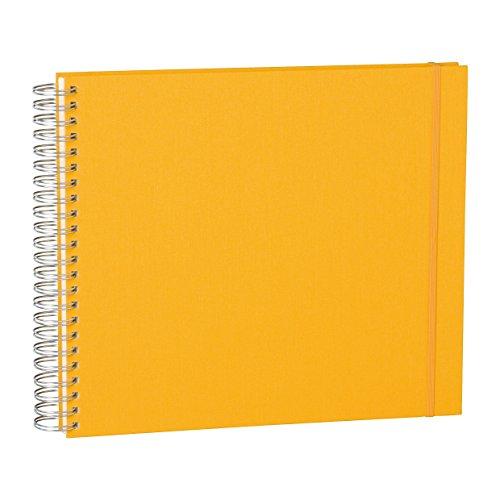 Semikolon (352993) Maxi Mucho Album sun (gelb) - Spiral-Fotoalbum mit 90 Seiten u. Leinen-Einband - Spiral-Foto-Buch cremeweiße Fotokarton