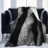 Ian Joseph Somerhalder Blanket Flannel Blanket air Conditioning Blanket Student Blanket Soft Thermal Printing Blanket Children/Adult blanket60x50Inch