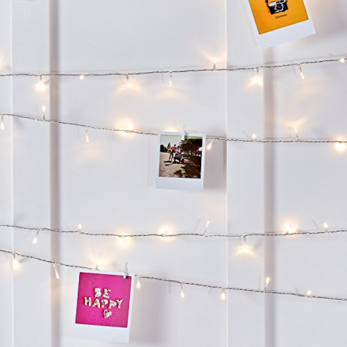Lights4fun Indoor Fairy Lights with 200 Warm White LEDs on 16m of Clear Cable