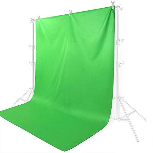 Hersmay 6.6 x 9.8FT/ 2 x 3m Greenscreen Fotostudio Hintergrundstoff Green Screen 100% Reine Muslin Hintergrund Backdrop Photography