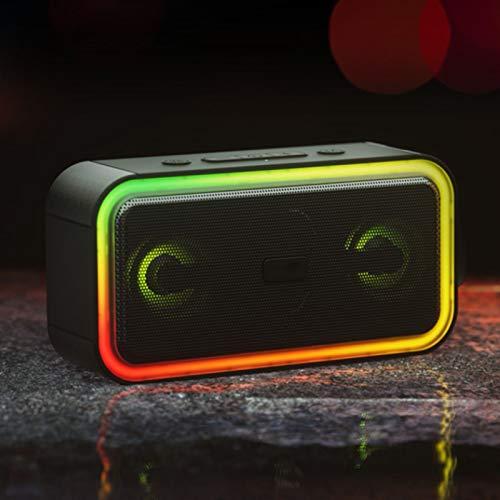 PPBB Altavoz Bluetooth con Luces de Colores, Volumen Ultra Grande para el hogar, Sonido Envolvente 3D, estéreo de Alta fidelidad, estéreo, portátil, inalámbrico, subwoofer