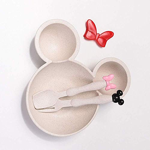 Yangyme Tazones de Sopa Cereales Cuenco de ratón de Dibujos Animados de...