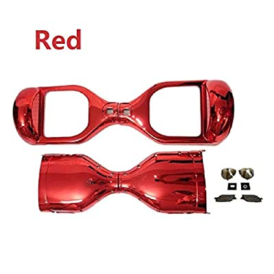 YAVOCOS Red 6.5 inch Chrome Outer Plastic Cover Case Shell Replacement Smart Self Balance Wheel Balancing Electric Scooter Spare Parts