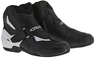 Alpinestars Men`s SMX-1R Street Motorcycle Boot Black/White 43