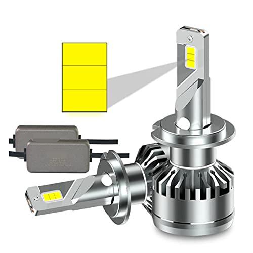 GCS Gcsheng 600 0K H7 LED Coche LED H4 LED Coche Bombillas LED H7 Fog Lights H11 LED LED Luces LED LED H4 Lámpara De Coche H1 Luces LED para Auto (Emitting Color : 6000K Cold White, Socket Type : H7)