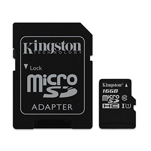 Kingston 16GB Micro SD SDHC Speicherkarte Class 10Für HTC One M8Für Windows Phone