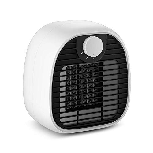 Heater,Electric Mini Personal Heater Fan,Over-Heat And Tip-over Protection,Low heat/High heat For Office And Home Use-white
