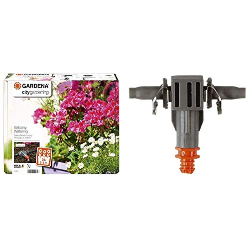 Gardena City Gardening Balkon Bewässerung: Vollautomatisches Blumenkastenbewässerungs-Set & Micro-Drip-System Reihentropfer: Tropfbewässerungssystem für Blumenkästen, 2 l pro h