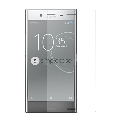 Simplecase Panzerglas passend zu Sony Xperia XZ Premium , Premium Bildschirmschutz , Schutz durch Extra Festigkeitgrad 9H , Hülle Friendly , Echtglas / Verb&glas / Panzerglasfolie , Transparent - 1 Stück