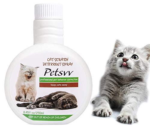 Petsvv Aerosol Disuasorio de Arañazos para Gatos, Aerosol Antiarañazos para Gatos Seguro para Plantas, Muebles, Suelos, no Tóxico, sin Alcohol
