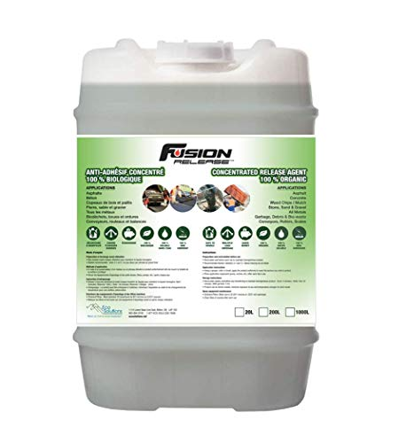 Fusion Release Asphalt & Concrete Release Agent - Prevent Sticking, Clumping and Freezing of Material - Beet Sugar Based Lubricant - 20 Litre Jug (5.3 gallons)