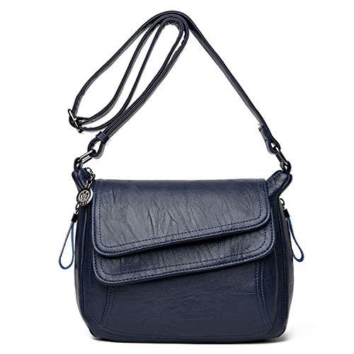 SYYHOME Crossbody Purses for Women PU Leather Hobo Shoulder Bags Travel Purses and Handbags Medium Pocketbooks (Navy Blue)