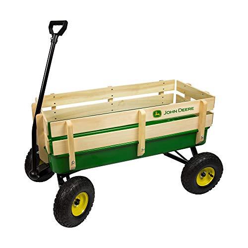 TOMY John Deere Steel Stake Wagon Toy Green