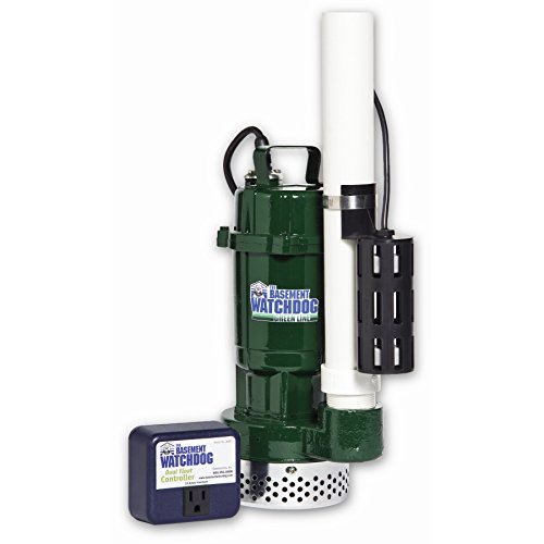 THE BASEMENT WATCHDOG Model BWT050 ½ HP 4,100 GPH at 0 ft. and 2,770 GPH at 10 ft. Cast Iron/Cast Aluminum Submersible Sump Pump with Caged Dual Micro Reed Float Switch