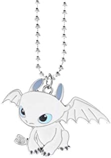 MINGZE Dragon Collana, How to Train Your Dragon Toothless Charm Cosplay, Metallo, Toothless Furia Buia Hiccup Draghi