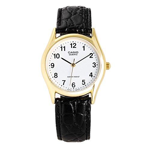 Classic 3-hand analoog waterbestendig heren horloge met echt leren band heren Japans kwarts horloge MTP-1094Q-7B1