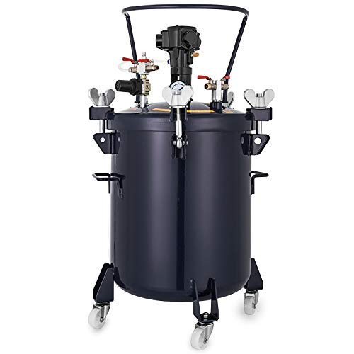 VEVOR Pressure Pot 2.5Gal Pressure Pot Paint Sprayer 10L Automatic Air Agitator Stirrer for House Keeping Or Commercial Paint